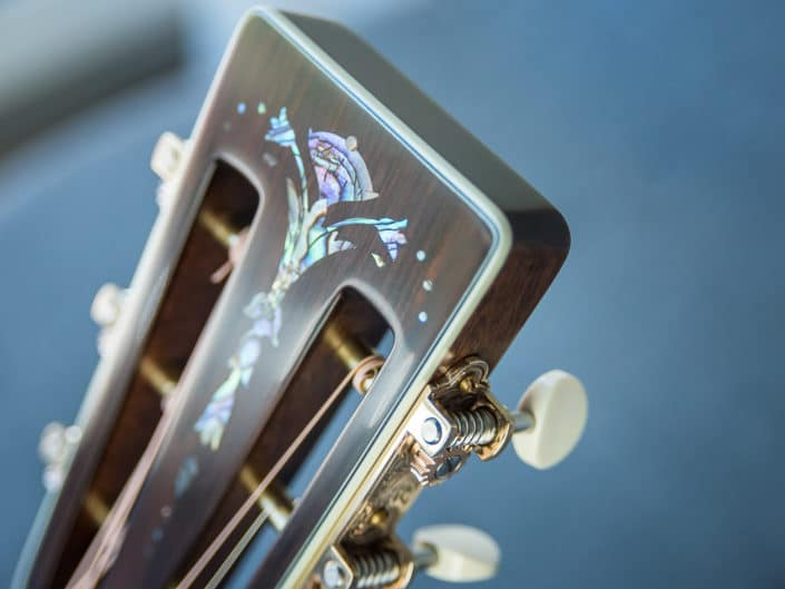 custom inlay acoustic guitar dreadnought