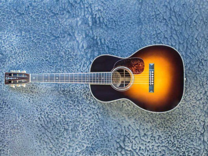 custom sunburst acoustic guitar